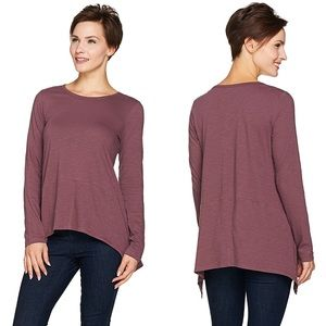 LOGO Lori Goldstein • Cotton Slub Knit Lagenlook